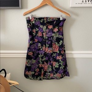 Strapless floral dress!